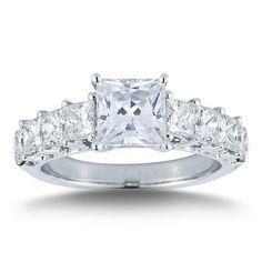 Costco: Princess Cut Diamond Ring (3.50 ctw) Platinum