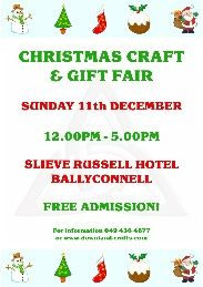 Christmas craft and gift fair held annually in the Slieve Russell Hotel, Ballyconnell, Cavan. Approximately 60 tables of handmade crafts, supplies & gifts. Christmas Crafts For Gifts, Summer Crafts, Craft Gifts, Summer Fair, Event Organization, Event Calendar, Handmade Crafts, Craft Supplies, Events