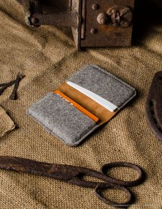 credit cards design credit card design Leather Orange Business and credit Card Holder Wool Felt Handmade