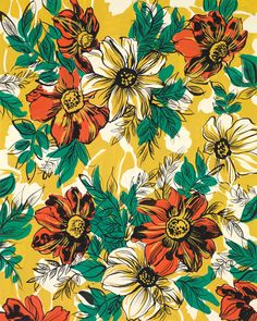 Bunches of Flowers - #textile