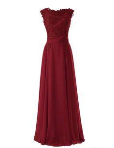R&J Women's Floor length Appliques Bridesmaid Formal Chiffon Evening Gowns | Amazon.com