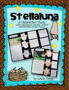 Stellaluna common core character and book study for Gr. 1-3.  Includes 2 weeks of lesson plans and foldable  character study booklet. $