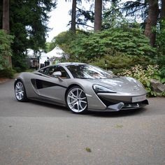 McLaren 570S painted in Silver  Photo taken by: @cars_of_vancouver on Instagram