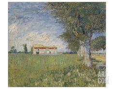 Farmhouse in a Wheat Field, 1888 Giclee Print by Vincent van Gogh at Art.com