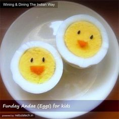 Easter breakfast - hard boiled eggs - doesn't get much easier than this! Cute Food, Good Food, Yummy Food, Holiday Treats, Holiday Recipes, Boiled Eggs, Hard Boiled, Food Crafts, Diy Food