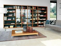 Download the catalogue and request prices of wall-mounted wooden bookcase Bdos, design TARTE, Bdos collection to manufacturer Treku