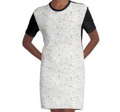 White terrazzo | texture | graphic dress