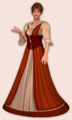 ROMANCE DESIGN - Women with long fantasy dresses - Free 3D poser tubes