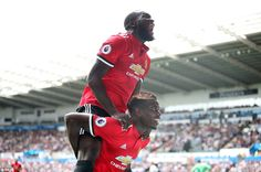 Pogba was beaming delight with Lukaku as the duo celebrate the former's delightful chip