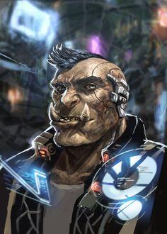 Street Fighter Characters, Sci Fi Characters, Character Concept, Character Art, Character Design, Shadowrun Rpg, Cyberpunk Rpg, Futuristic Art, Character Portraits