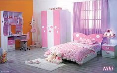Colorful Flower Theme Bedroom Decoration Ideas for Teenage Girls