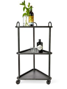 BoBo Intriguing Objects designed this iron trolley to tuck into a corner.