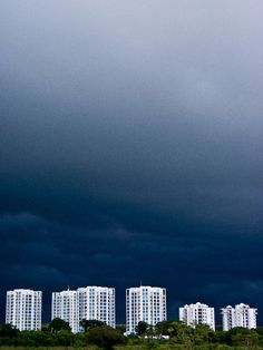 A gathering storm over a beach resort in Panama. Central American weather when it ISN'T sunny.