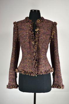CHANEL,VINTAGE.Tweed Wool Jacket