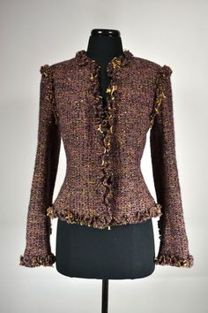 CHANEL,VINTAGE.Tweed Wool Jacket