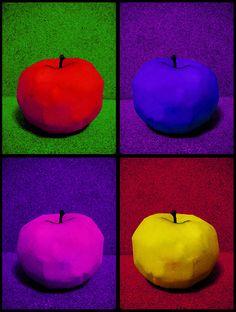 Apple Art Apple Art Projects, Fall Art Projects, Pop Art Food, Pop Art Drawing, Apple Painting, Art N Craft, Arte Pop, Fruit Art, Chalk Pastels