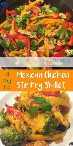 21 Day Fix Mexican Chicken Stir Fry Skillet | The Master's Hammer and Chisel | 21 Day Fix Extreme | Healthy Dinners | Paleo | Gluten Free | One Skillet Meal | http://FitMomAngelaD.com