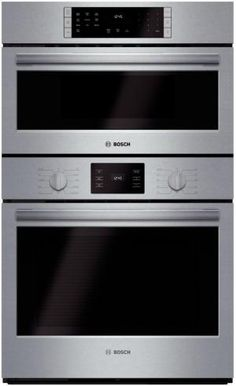 Bosch 30 Inch Sd Combination Wall Oven With Cu European Convection Microwave 14 Cooking Modes Self Clean Fast Preheat And Telescopic