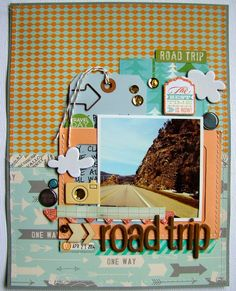 #papercraft #Scrapbook #layout. Road Trip by danielle1975 at @Studio_Calico