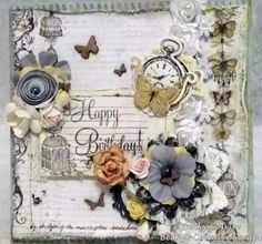 Becky is up with a BEAUTIFUl card with Prima Epiphany Collection
