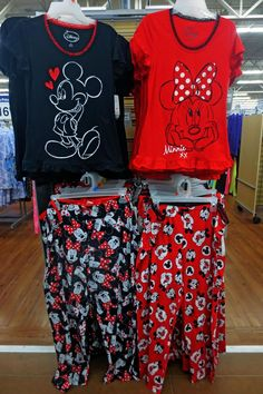 Mickey and Minnie Mouse pajamas at the Walmart in Sandy, Utah. I took this picture on Jan. 23, 2015 with my cell phone by Tierny Garrison.