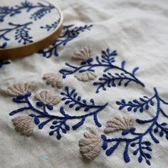 Olympus Sashiko Fabric - Sashiko Placemat Kit # 311 - Asanoha & Seven Treasures - Navy - Japanese Embroidery - Embroidery Design Guide Garden Embroidery, Embroidery Works, Paper Embroidery, Japanese Embroidery, Crewel Embroidery, Cross Stitch Embroidery, Embroidery Patterns, Eyebrow Embroidery, Flower Embroidery