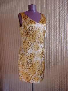 Blushe Impressions Cocktail Dress Leopard Print size 12 NEW NWT Sleeveless SILK #Blushe #WigglePencil #Cocktail
