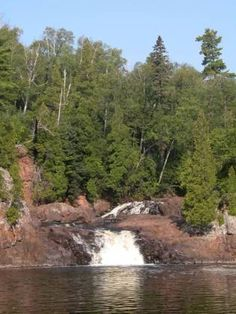 Two Step Falls is in Minnesota'sTettegouche State Park. As the name implies, this waterfall consists of two drops, each around 15 feet high. This waterfall is 1/2 mile downstream of theHigh Falls of the Baptism River. Two Step is a nice enough small falls, but the High Falls are the one to see.--GLWB