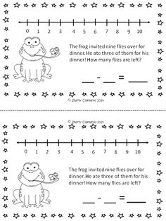 Subtraction Story Problems Book (May) - Provides for DIFFERENTIATION! CUTE and FUN story problems to solve using a number line. $