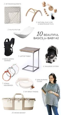 Cute baby essentials. Great ideas for a baby shower.