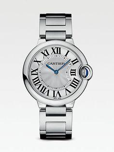 $5450 Cartier - Ballon Bleu de Cartier Stainless Steel Bracelet Watch, Medium - (Duchess Kate's watch)