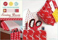 Moda's Half Moon Modern Sewing Room: Ironing Board Thread Catcher & Caddy.