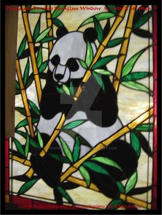Panda Bear Stained Glass Close by HouseofChabrier