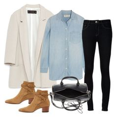 """""""Untitled #3212"""" by bubbles-wardrobe ❤ liked on Polyvore featuring Zara, Madewell, Ström and Yves Saint Laurent"""