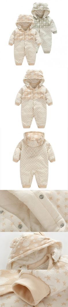 2016 autumn winter Baby Rompers Pajamas Boys Girl Organic cotton Newborn Jumpsuits Infant Clothing sleepwear baby clothes $15.99