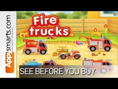 Fire Trucks: 911 rescue (educational app for kids) by Thematica [ages 2+, iPad,Android] - YouTube