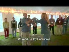 Five Handshakes In Five Minutes - fun, interactive ice-breaker - YouTube This is the teambuilding activity I did for class. I love it. Gives kids the opportunity to interact with many classmates. Its also really funny and can be modified by letting students make up their own handshake and share it.