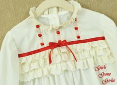girls white nightgown christmas nightgown by girlsgonegirlie