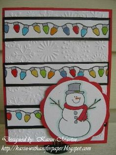 Cute border - Christmas card - bjl