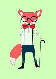 Poster A4 Foxy fox from vanMariel ● Buy it at Troetel.com
