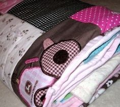 memory blanket for all the outfits and bibs too cute to pack away