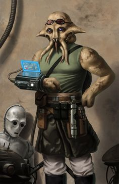 Quarren Jedi Technician by Jedi-Art-Trick on @DeviantArt