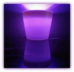 Glow Vase - White Vase w/Purple Light