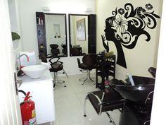 salao de beleza em preto e branco decoração pequenos - Pesquisa Google
