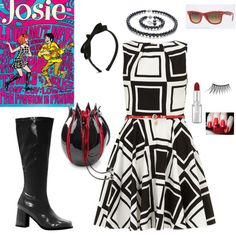 Super hip #outfit inspired by #Josie of the Pussycats fame #cartoon #fashion