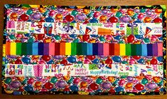 """Happy Birthday themed table runners two styles reversible 12"""" x 21"""""""