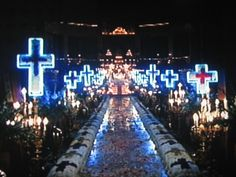 neon crosses (Scene from romeo and juliet)