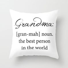 Grandma Definition   Throw Pillow Cover by ShelleysCrochetOle