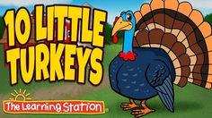 Thanksgiving Songs for Children - Ten Little Turkeys - Turkey Kids Songs by The Learning Station