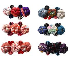 WHOLESALE Set of 6 Kimono Barrettes Japanese fabric by tomoandedie, $60.00